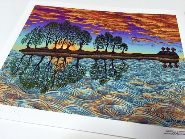 Image of 10,000 lakes Art Print by Emek