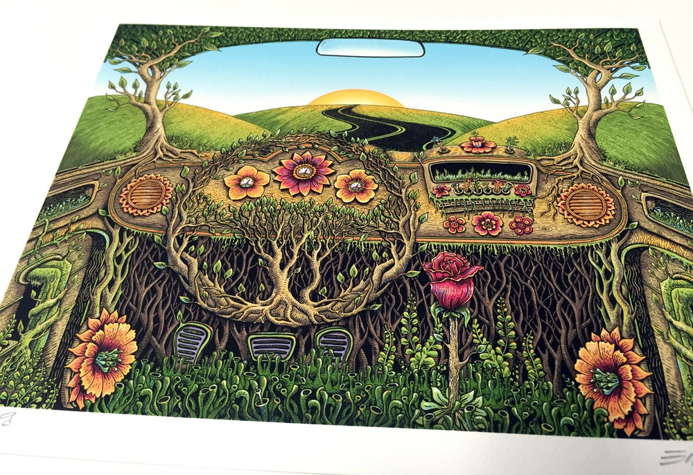 Image of Flower Car Art Print by Emek