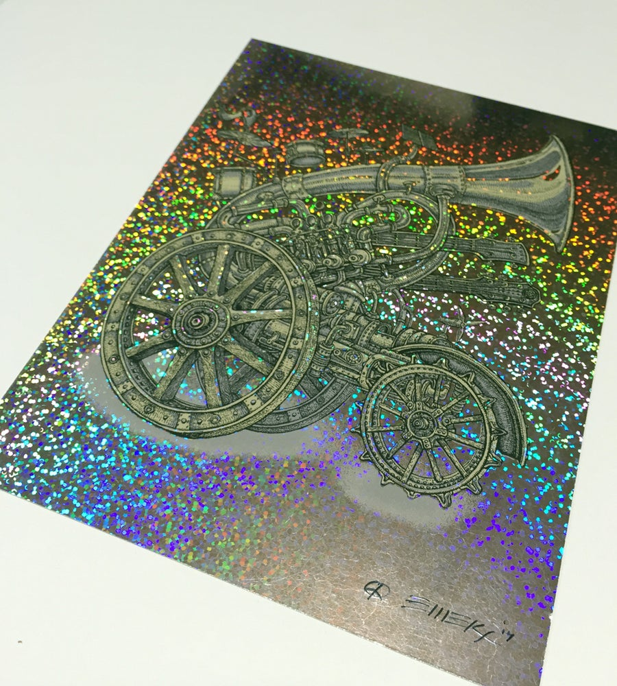Image of Handbill Instrumental Cannon Sparkle Foil by Emek