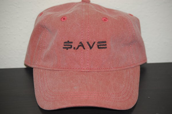 Image of Red $.AVE Hat