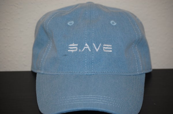 Image of Light Denim $.AVE Hat