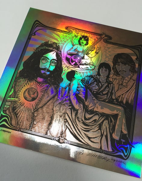 Image of HandBill Beatles Copper on Foil by Emek
