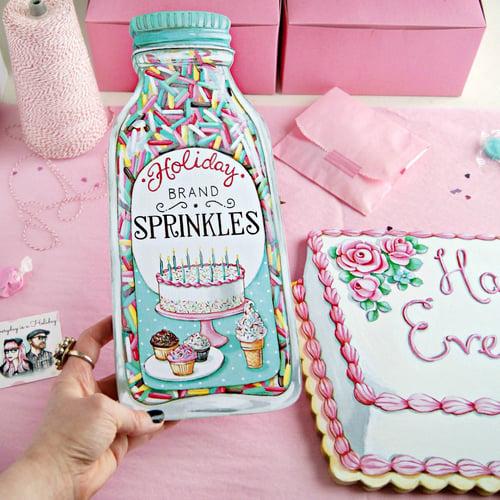 "Image of Jumbo ""Bottle of Sprinkles"" plaque"