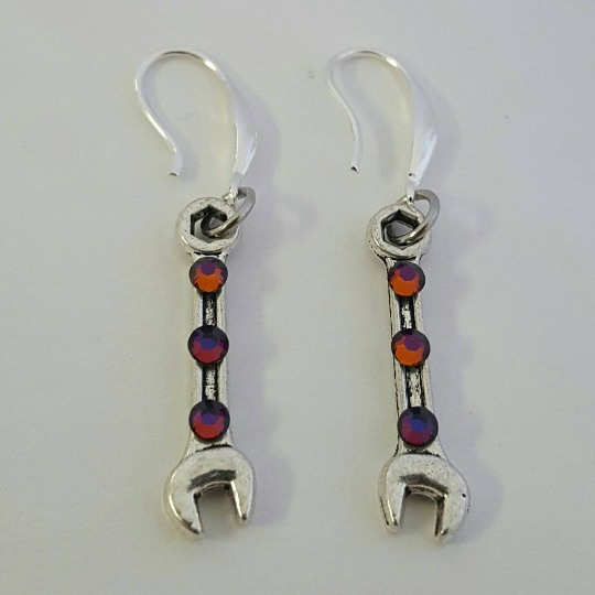 Image of Swarovski Wrench Earrings