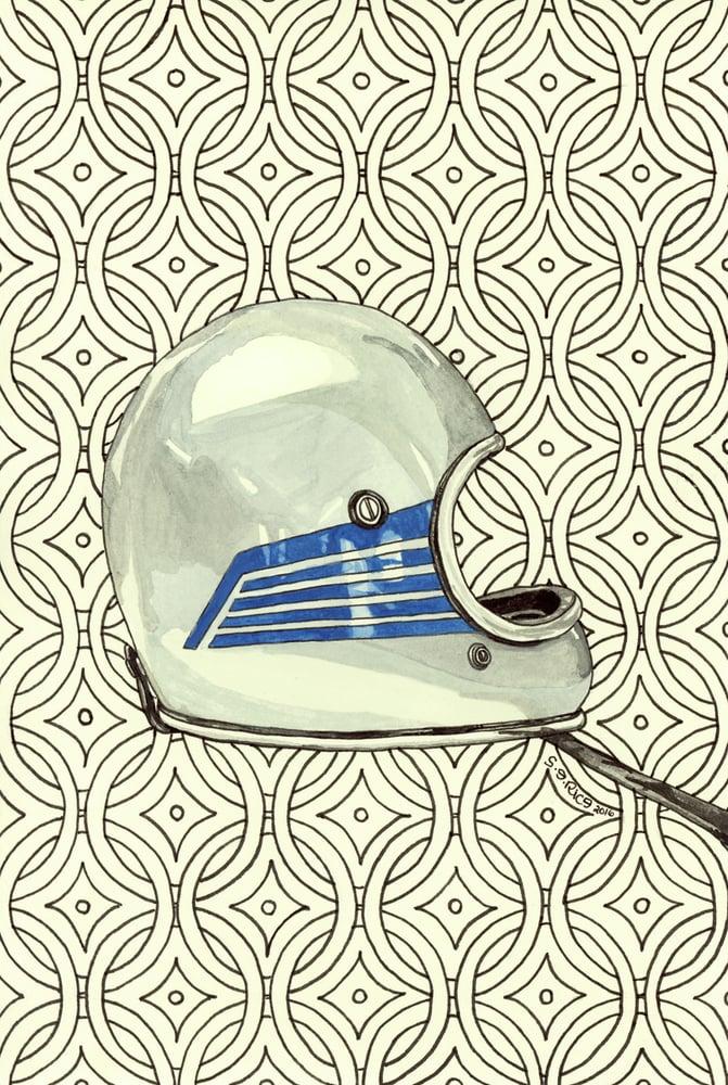 Image of Silver Vintage Helmet