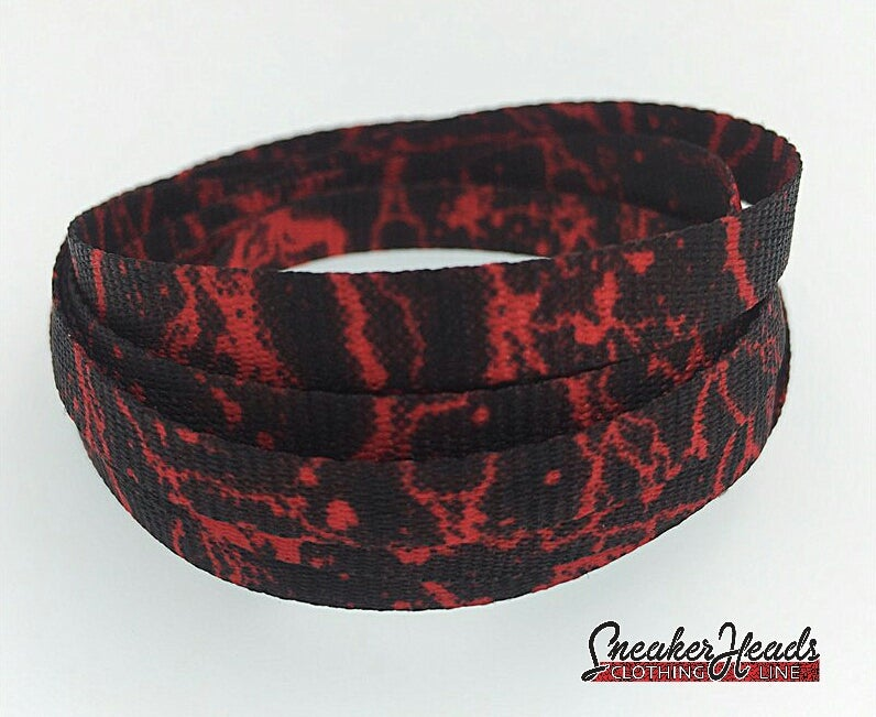 Image of Exclusive RED STORM LE Custom Shoelaces
