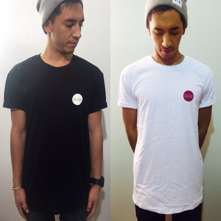 Image of circle logo tee