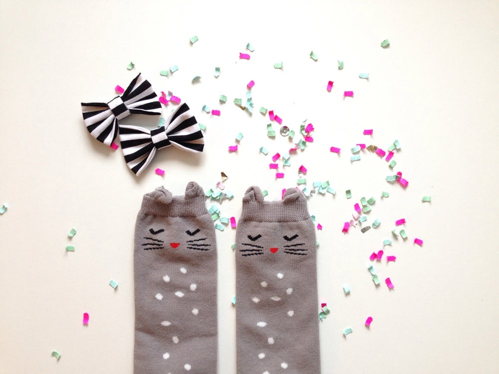 Image of Bashful Kitty Socks