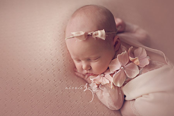 Image of Ashlyn Elegance Newborn Romper