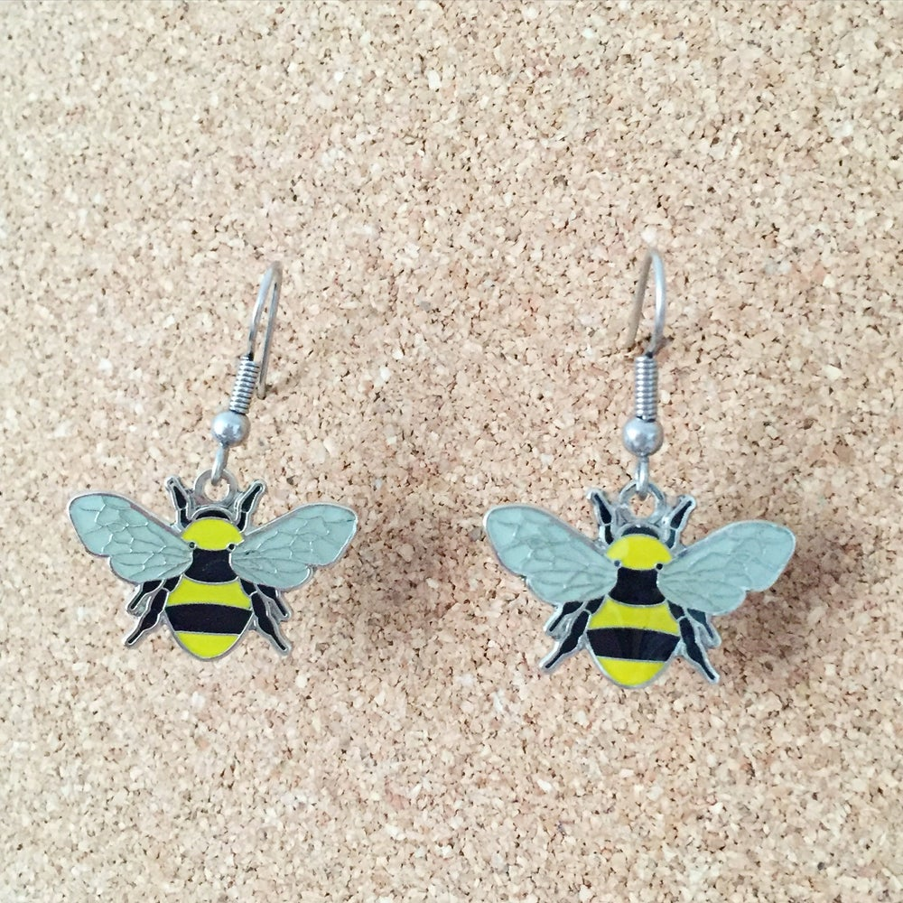 Image of Bee Enamel Earring Set