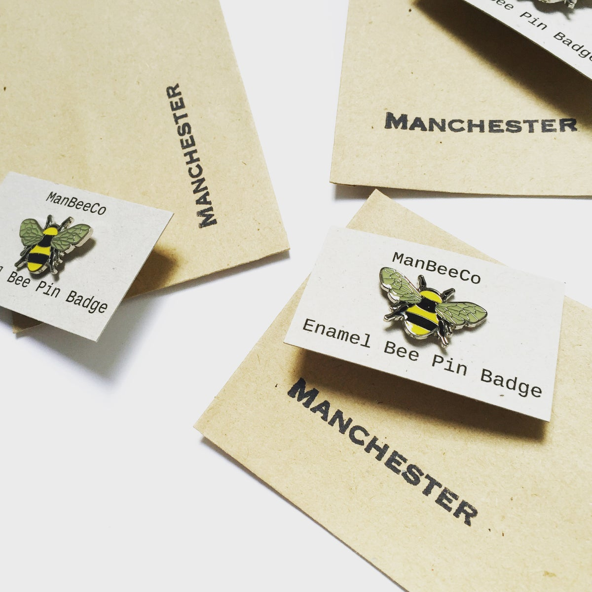 Image of MANCHESTER BEE ENAMEL PIN BADGE - YELLOW