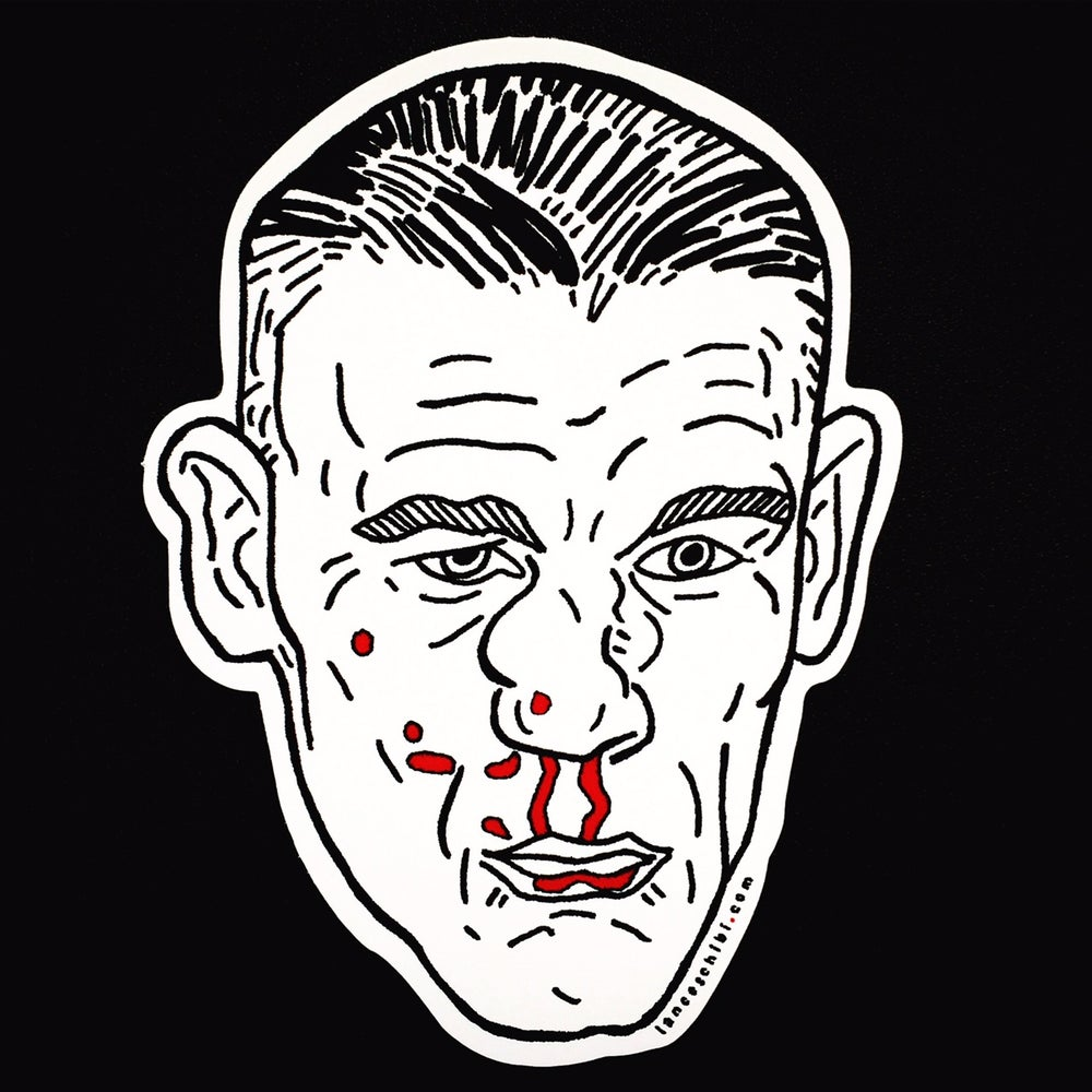 Image of BROKEN FACE Die Cut Sticker