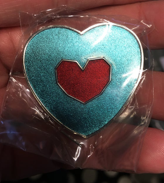 Image of Heart In A Heart Zelda Inspired Lapel Pin