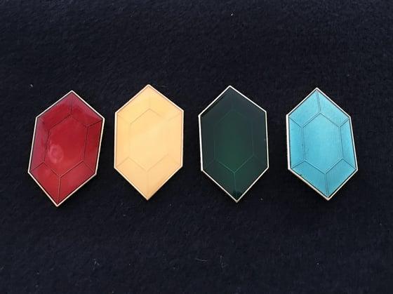 Image of Rupee Lapel Pin Set (4)