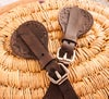 Leather Spur Straps with Hitched Horse Hair