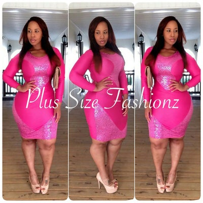 Pink Glitter Affair - Plus Size Fashionz