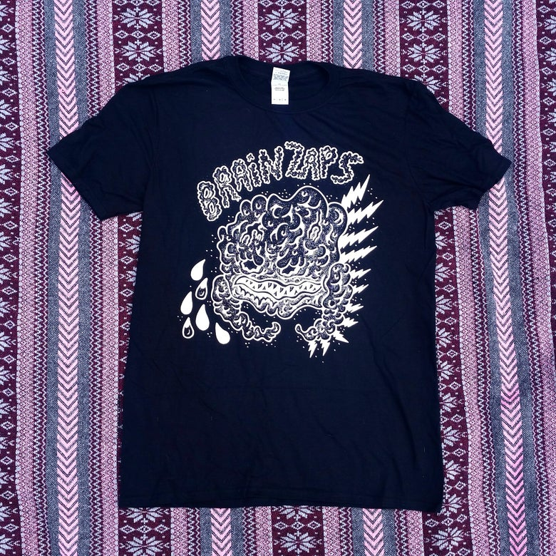 Image of 'Brain Zaps' Band - Logo T (Black)
