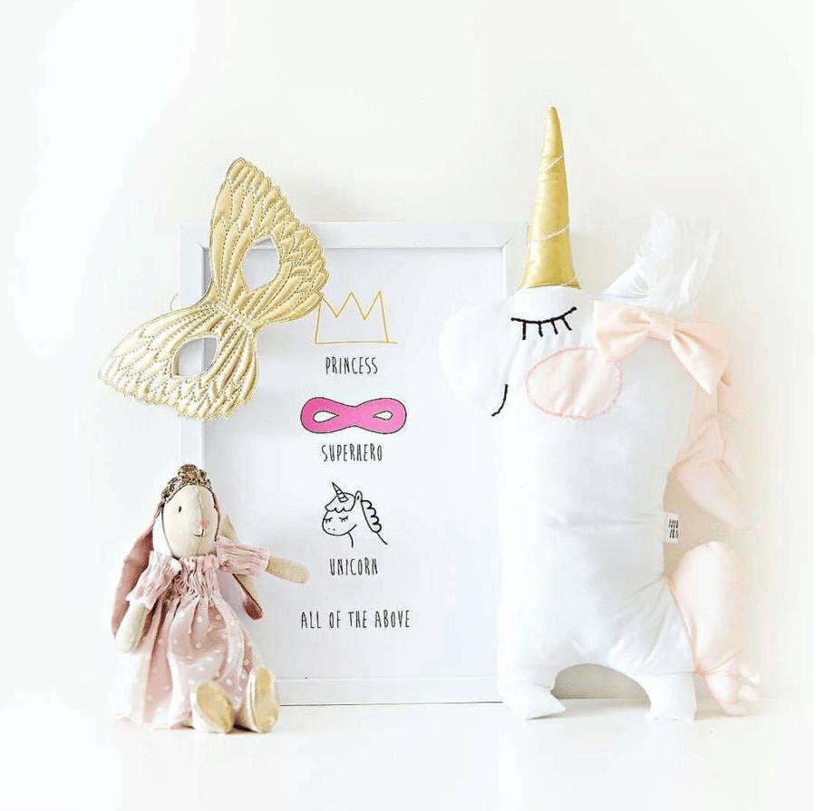 Image of Princess Unicorn Print A4