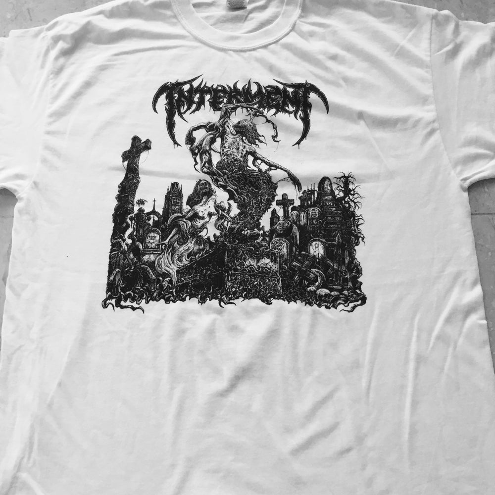"INTERMENT ""Scent Of The Buried"" White T-Shirt"
