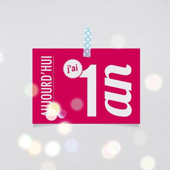 Image of 1 an - Carte postale