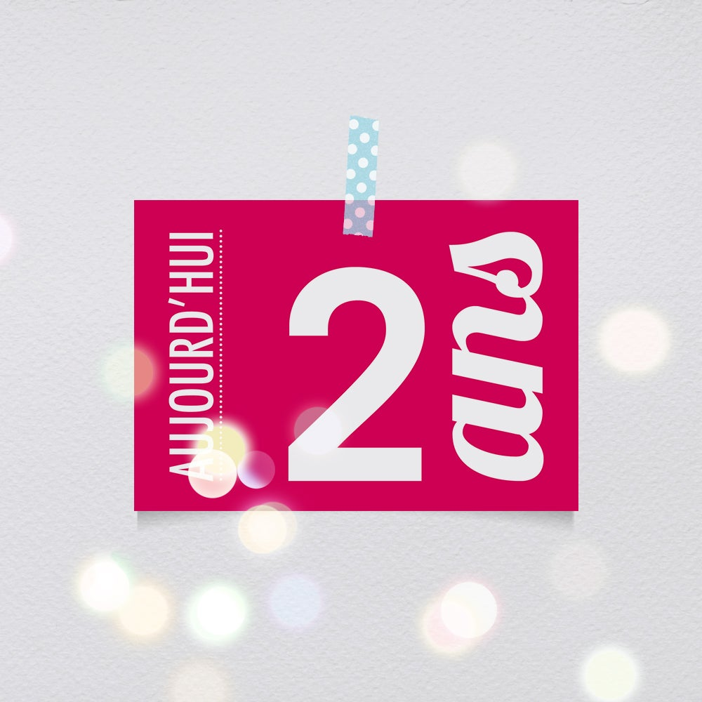 Image of 2 ans - Carte postale