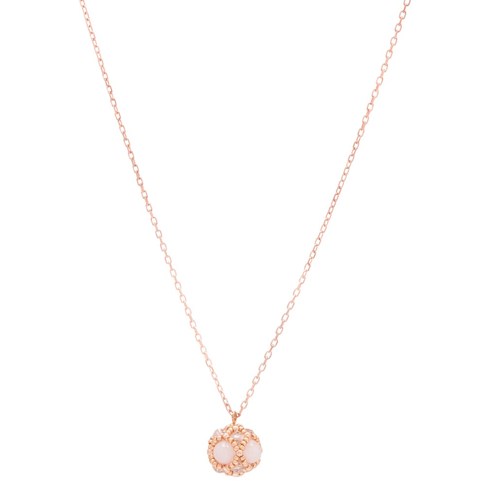 Image of Rose Quartz & Rose Gold Empire Pendant
