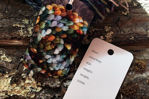 Image of Handspun Yarn Tags- Set of 15
