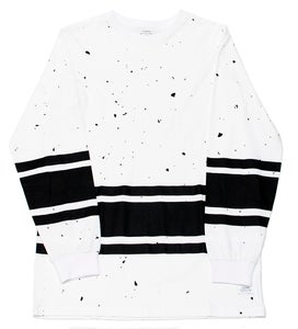 Image of All Over Granite L/S Tee White