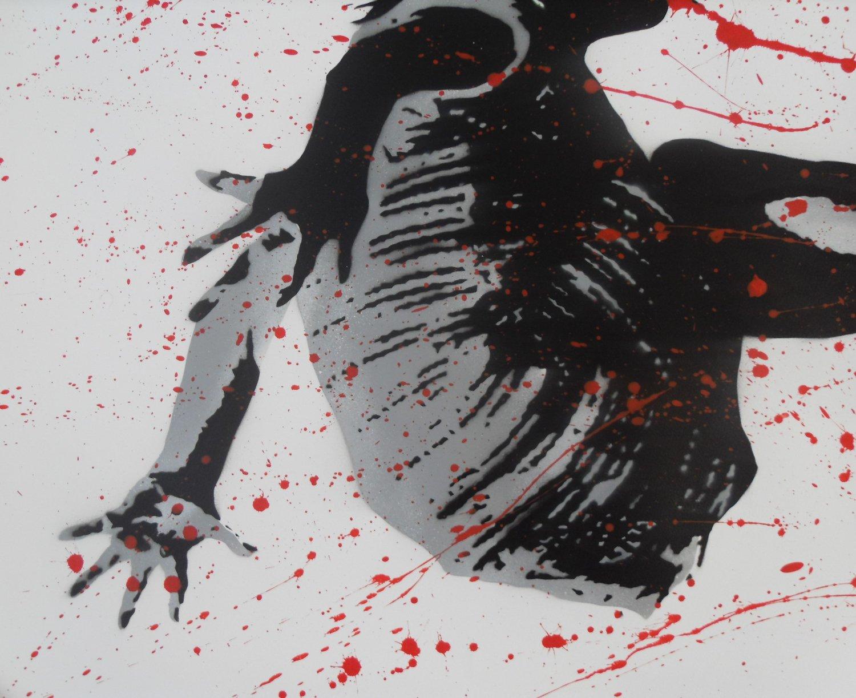 "Image of GRAFTER - ""SPLASH"" UNIQUE XL HAND SPRAYED EDITION - 111CM X 76CM"