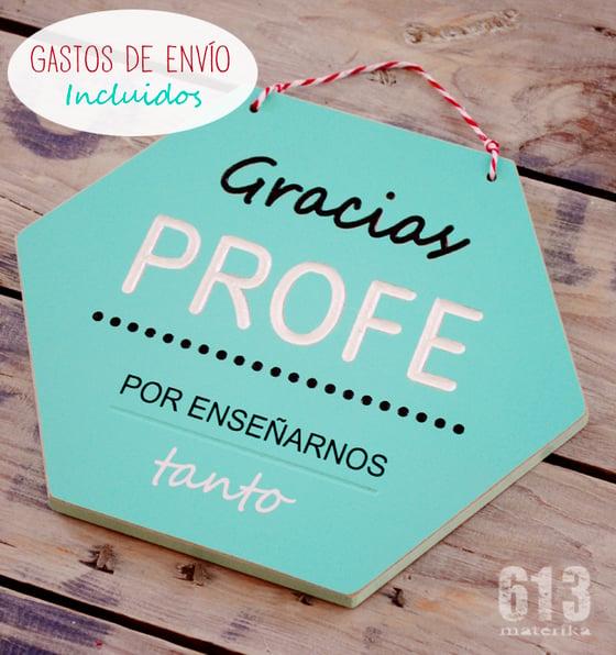 """Image of """"GRACIAS PROFE"""" con personalización en parte trasera"""