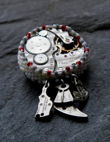Image of Time In pieces, handmade brooch