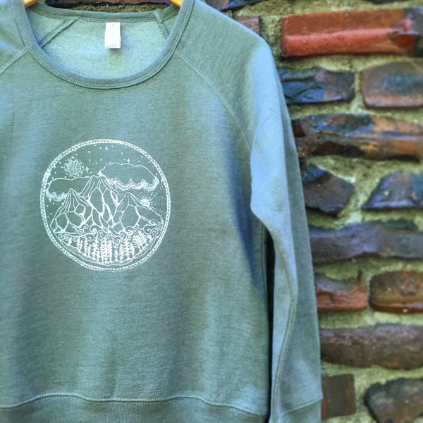 Image of +Mountain Scene+ NEW Organic Blend Women's Sweatshirt