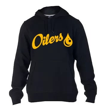 Image of Black Oilers Pull-Over Hoodie