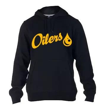 Black Oilers Pull-Over Hoodie