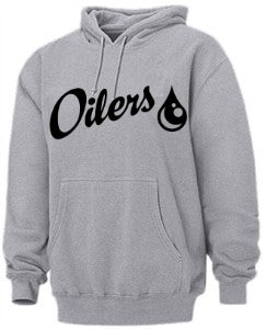 Image of Grey Oilers Pull Over Hoodie
