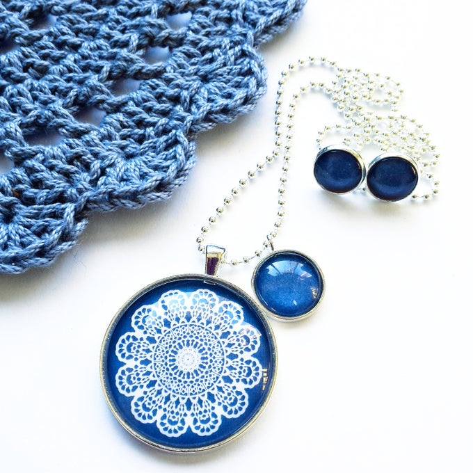 Image of Gift Set - Navy mandala