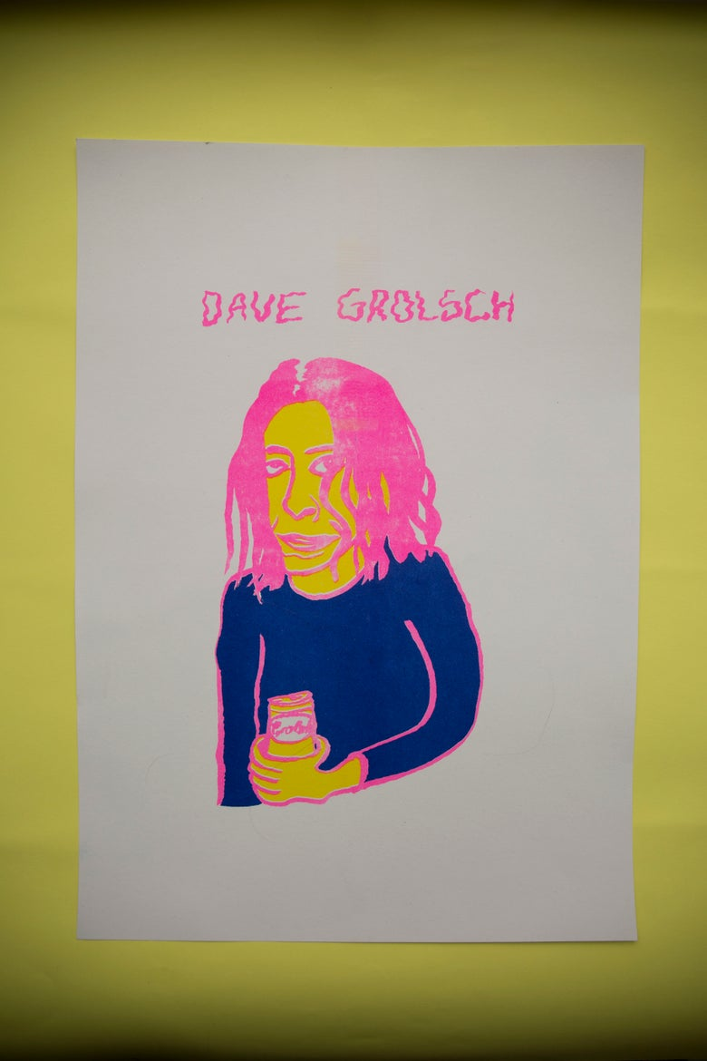 Image of Dave Grolsch Riso Print