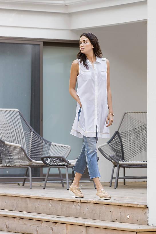 Image of SALE Lilla P Woven Cotton Tunic