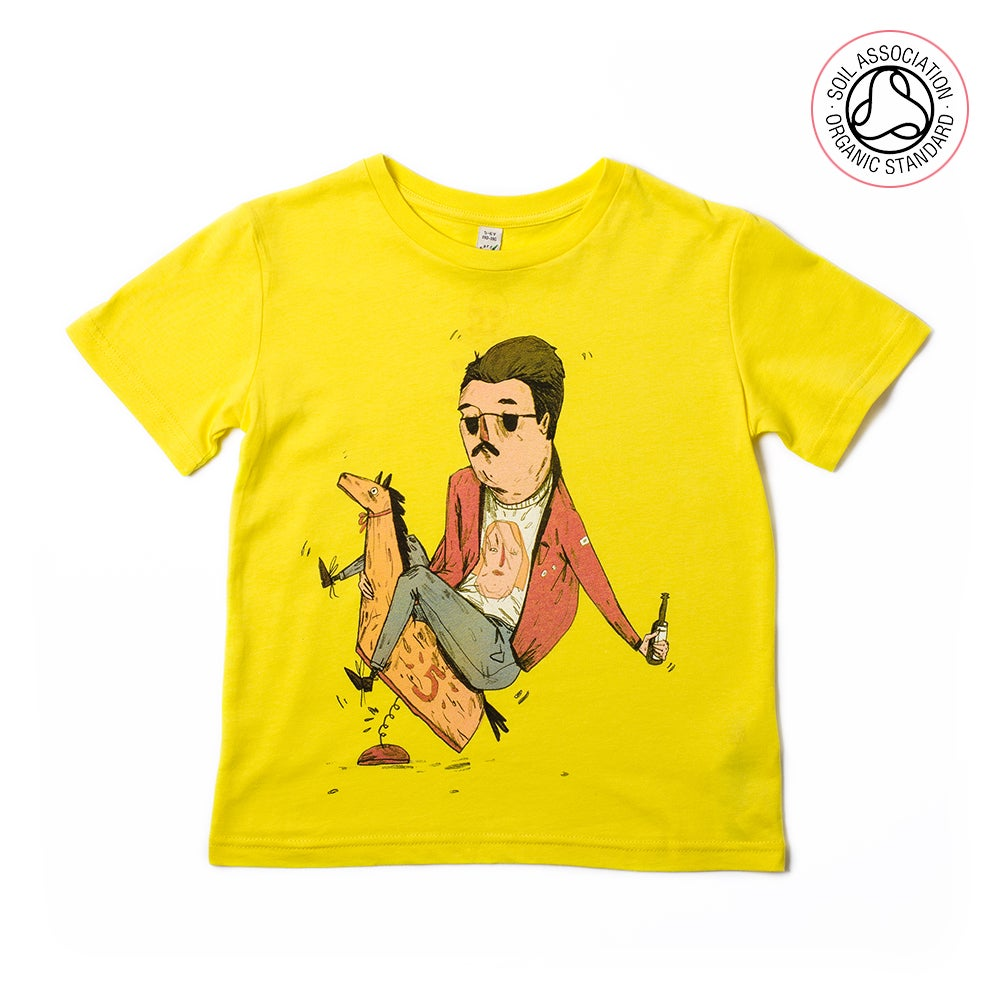 Rocking Man Yellow Kids-T (Organic)