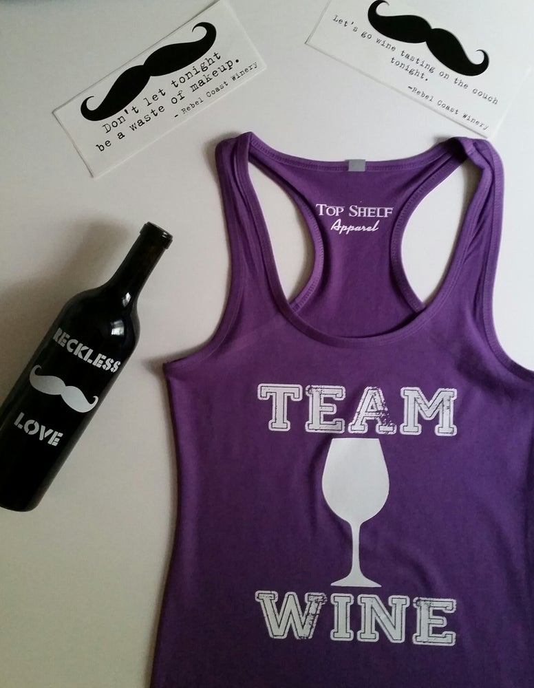 Image of TEAM WINE racerback tank
