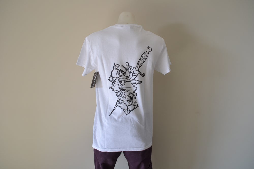 Image of Sykotic X Jimmy B Panther Tee (White)