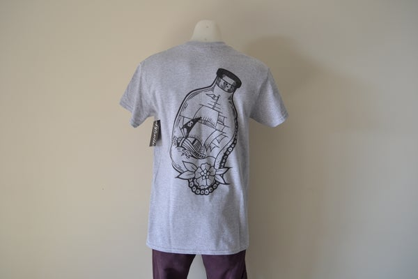 Image of Sykotic X Jimmy B Bottled Ship Tee (Grey)