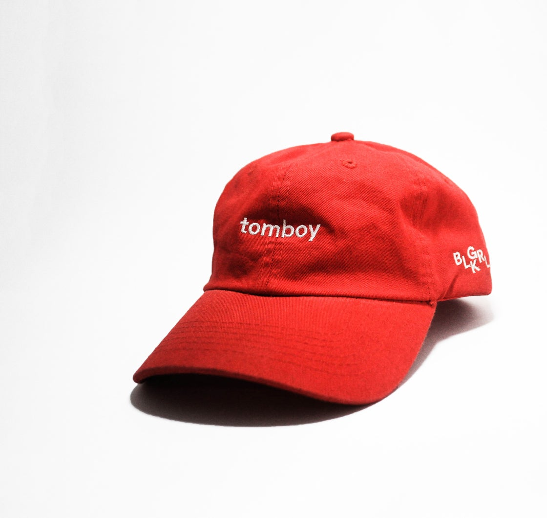 Image of BLKGRL Crimson Tomboy Summer Cap