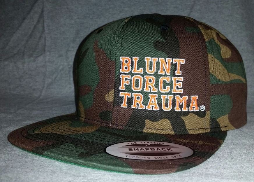 Image of Camo Flat Bill White/Orange