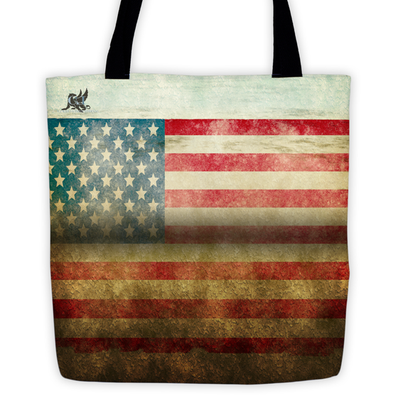 Image of Grunge Flag Tote