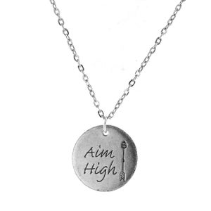 Image of Aim High Token Charm Necklace