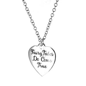 Image of Fairy Tales Do Come True Token Charm Necklace