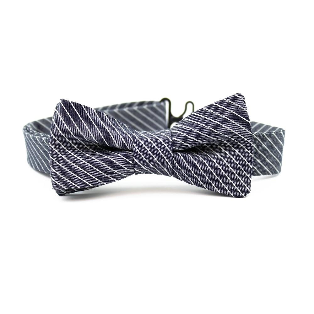 Image of Engineer Stripe Kids Bow Tie