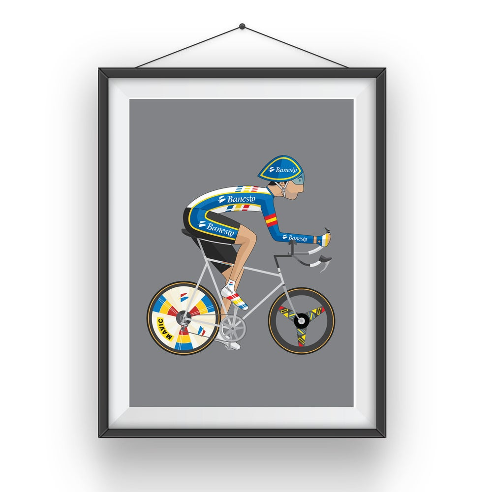 Image of Miguel Indurain A3 Giclee print