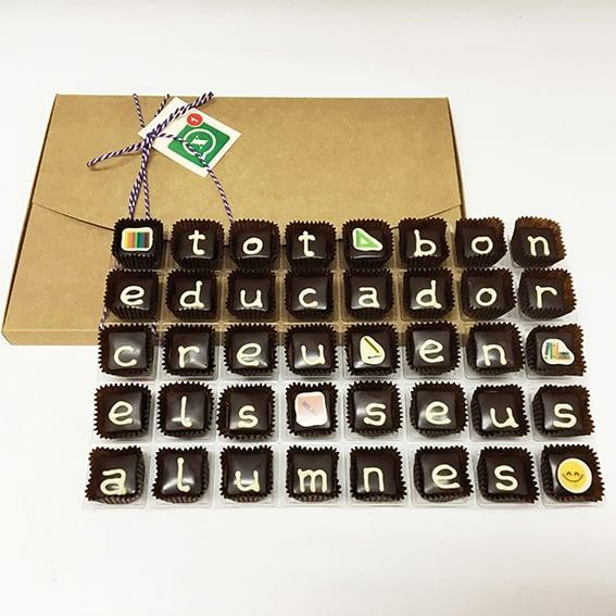 """Image of Xocowhats, missatge de xocolata: """"tot bon educador..."""""""